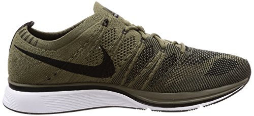 Mixte Chaussures Nike Black Trainer Flyknit Olive Medium de white Gymnastique Adulte XUXf74Cwqx