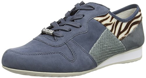 Gabor Haddaway, Sneakers Basses Femme Bleu - Blue (Avio Nubuck Kombi)