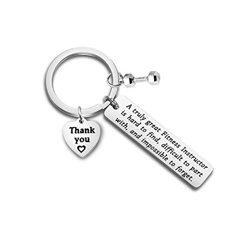 ENSIANTH Fitness Instructor Gift A Truly Great Fitness Instructor is Hard to Find Keychain Personal Trainer Gift Instructor Thank You Gift (Fitness Instructor)