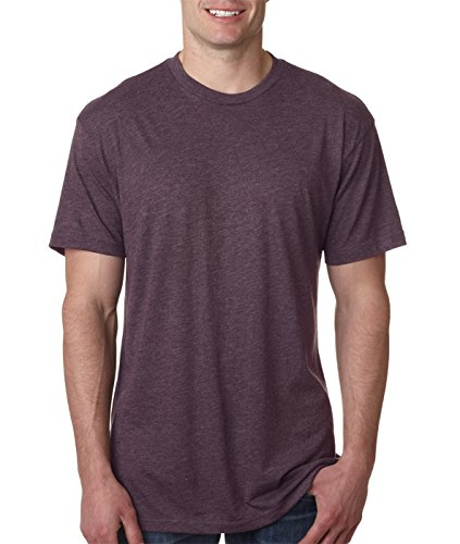 Crew Mens Clothing - Next Level 6010 Men's Tri-Blend Crew Tee-Vintage Purple, Large