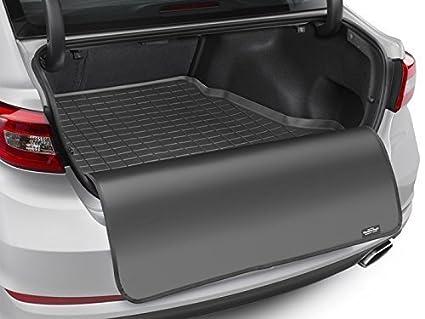 Nero CargoLiner SQ7 4M 7 posti Dietro 2/° Fila 2015-19 WeatherTech Vasca per Baule su Misura Protezione Paraurti su Misura Compatibile per Audi Q7