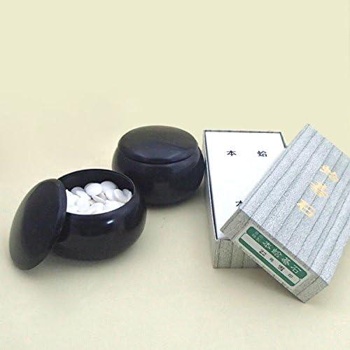 碁石セット 蛤碁石雪印22号(約6.3mm)とP黒大碁笥