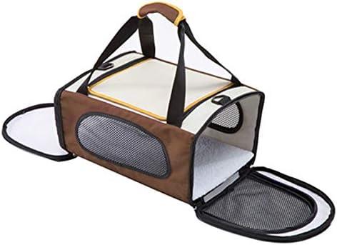 DZBH ガットペット製品50C34スリーピング旅行キャリア犬のバッグ女性の折り畳み式ドッグリュックラグジュアリースリング猫ケージクレート (Color : A, Size : L)
