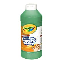 Crayola; Washable Fingerpaint; Art Tools; 32-Ounce Plastic Squeeze Bottle; Bright, Bold Colors; Green