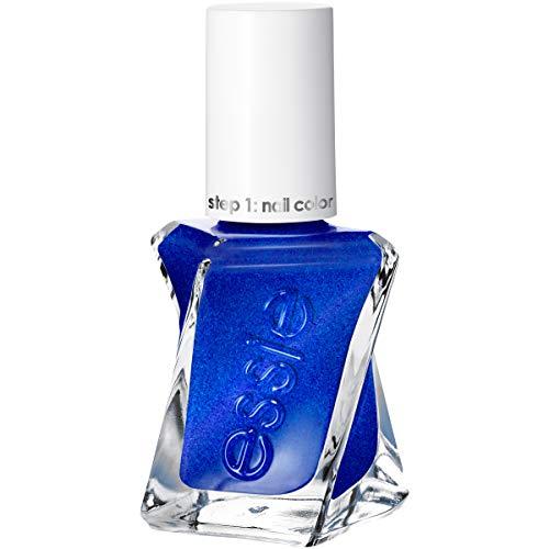 essie Gel Couture 2-Step Longwear Nail Polish, Front Page Worth, Blue Metallic Nail Polish, 0.46 fl. ()