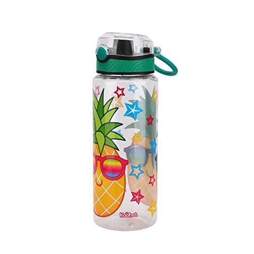 TOP APEX ENTERPRISES LIMITED Tritan Water Bottle with Flip-top Lid with Unicorn Pineapple Graphics, Break-resistant and BPA-Free Plastic, 23 oz