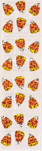 - Halloween Candy Corn Glitter Stickers - 2 Sheets