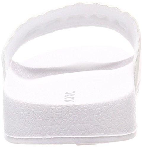 Jack & Jones Men's Jfwlarry Pool Slider Bright White Closed Toe Sandals White (Bright White Bright White) 5EmZChwo