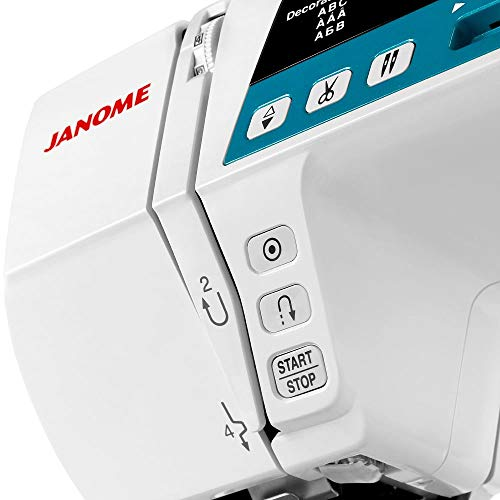 Janome 4120QDC Computerized Sewing Machine w/Hard Case + Extension Table + Instructional DVD + 1/4 Seam Foot w/Guide + Overedge Foot + Zig Zag Foot + Zipper Foot + Buttonhole Foot + Needles + More!