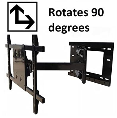 """THE MOUNT STORE ~Rotating~ TV Wall Mount for LG 55"""" Class 4K HDR Smart LED Super UHD TV w/AI ThinQ Model 55SK8000AUB VESA 300x300mm Max Extension 31.5 inches, Rotates from Landscape to Portrait Mode"""