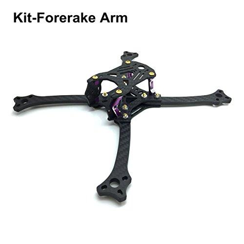 211mm FPV Frame Racing Quadcopter Kit Carbon Fiber Forerake X Arm Frame Kit by Crazepony (Forerake Frame Kit) by Crazepony (Image #9)