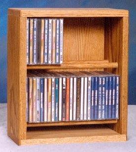 (12.25 in. Dowel CD Storage Rack (Honey Oak))