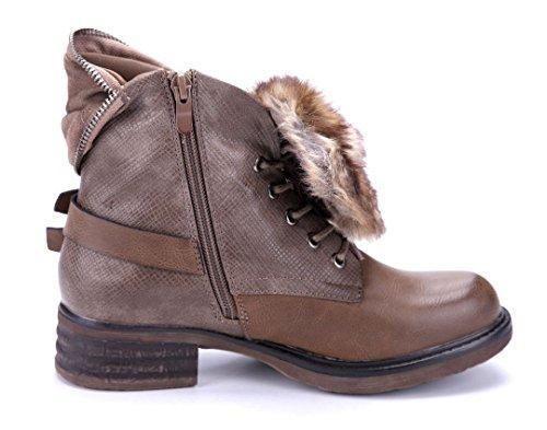 Schuhtempel24 Damen Schuhe Klassische Stiefeletten Stiefel Boots ...