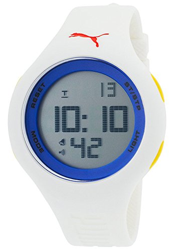Puma PU910801033N White Rubber Grey Digital Dial