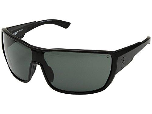 Spy Tron 2 Sunglasses Matte Black with Happy Gray Green Lens ()