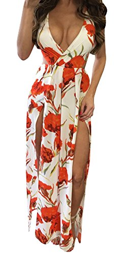 orange halter maxi dress - 1