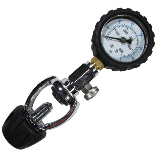 (Scuba Choice Scuba Diving Yoke Tank Pressure Checker 5000 PSI 350 BAR)