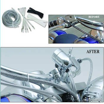 Amazon.com: Baron Motorcycle Cable, Hose and Wire Chrome Dress-Up ...
