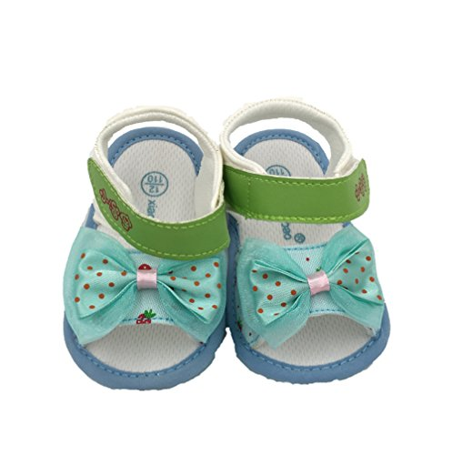Baby Girl Sandals, Neband Baby Infant Girls Bow tie Sandals Soft Sole First Walker Crib Shoes (4.33in /3-6 Months, Green)
