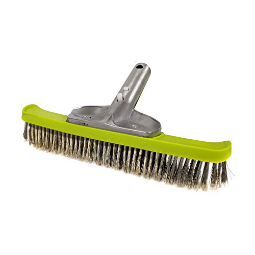 POOLWHALE 10'' Heavy Duty Wire Brush with Stainless Steel Bristles,Suitable for Concrete and Gunite Pools and Walkways ()