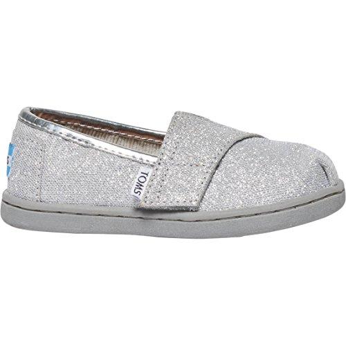TOMS Kids Unisex Seasonal Classics (Infant/Toddler/Little Kid) Silver Glimmer Loafer 9 Toddler M