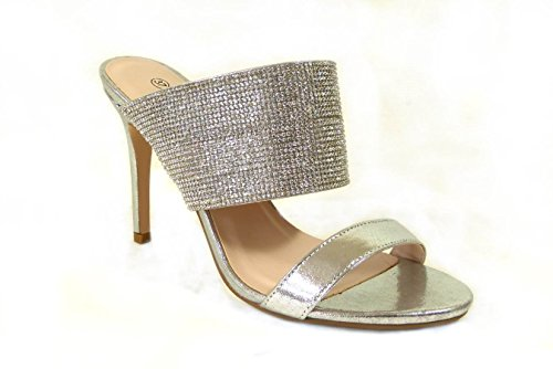 4 Diamante Größe 6 Abend 7 Damen Braut 5 Yy561 Prom Designs Verschiedene Hochzeit High Schuhe 30 Heel 3 Damen Silber Sandalen 8 p6wnq6BF
