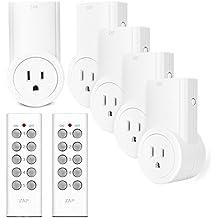 Etekcity Control Remoto Inalámbrico Eléctrica Outlet Switch para electrodomésticos, Blanco (Código de Aprendizaje, 5rx-2tx)