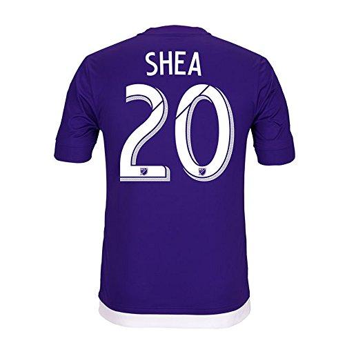 オートマトンレンジ疑わしいAdidas SHEA #20 Orlando City SC Home Soccer Jersey 2015-16(Authentic name & number)/サッカーユニフォーム オーランド?シティSC ホーム用 シェイ