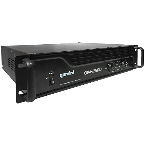 Gemini GPA-2500 3000W Professional DJ Power Amplifier