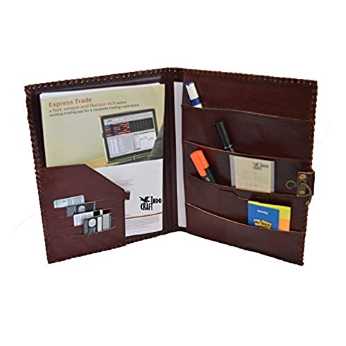 chic leather padfolio professional business portfolio lightweight stylish resume legal document interview - Resume Holder