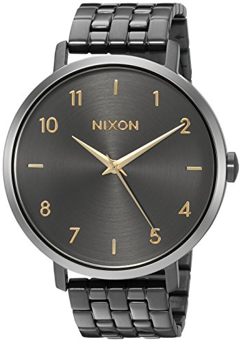 Nixon Women's 'Arrow' Quartz Stainless Steel Casual Watch, Color:Grey (Model: A10902765)