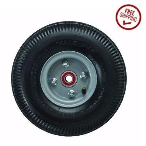 Magliner Offset Hub Hand Truck Tire 5/8'' ID 10'' Pneumatic Wheel/Air Filled Tire