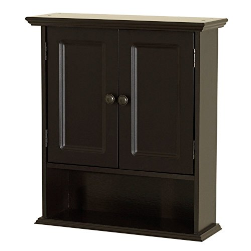 Zenna Home 9918CHA, Collette Wall Cabinet, Espresso by Zenna Home (Image #3)