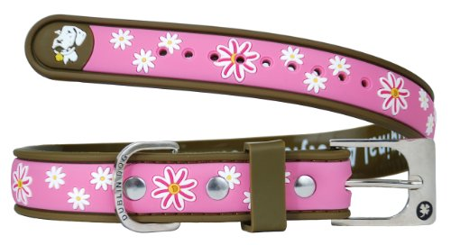 Dublin Dog Waterproof Dog Collar, Small 9 inches - 14 inches, Cotton Candy
