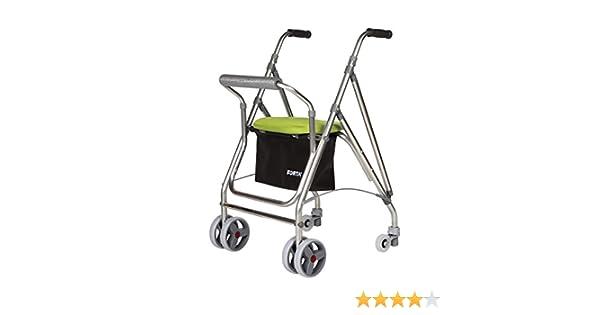 Forta fabricaciones - Andador de 4 ruedas para ancianos Kanguro FORTA - Kanguro, Verde: Amazon.es: Salud y cuidado personal