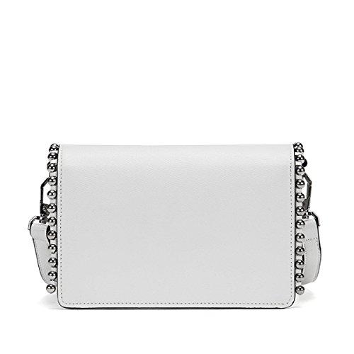 Baguettes Sacs Top Couleur White Nouveau Bandoulière Femme Bag Sac Décontracté Totes à Unie White Handle Main GSHGA Sac Messenger à Rivets UqYYZa