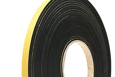 "NEOPRENE RUBBER Self Adhesive Strip; 1/2"" wide x 1/8"" thick x 33 feet long"