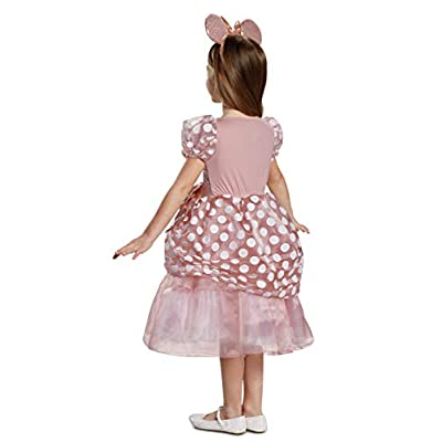 Disguise - Rose Gold Minnie Deluxe Child Costume: Toys & Games