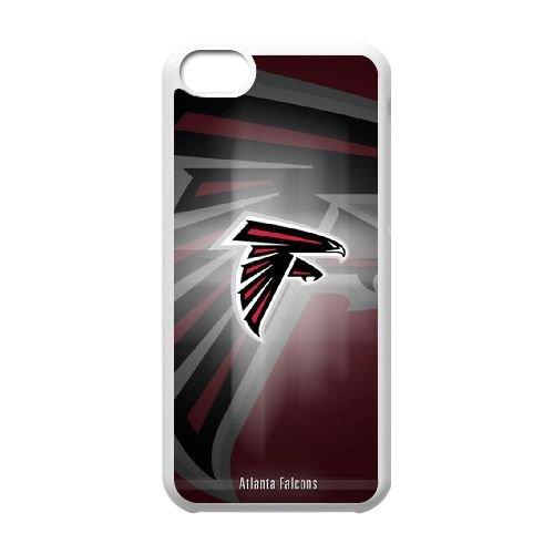 Atlanta Falcons Team Logo coque iPhone 5C Housse Blanc téléphone portable couverture de cas coque EBDOBCKCO14312