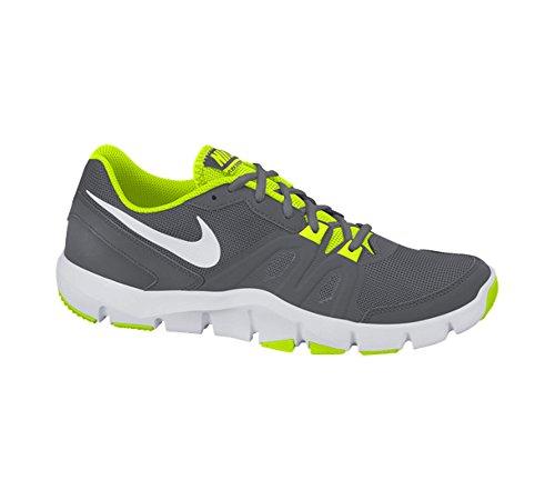 Nike Flex Show TR 4 - Zapatillas de cross training unisex, color negro / blanco, talla 40.5 Gris (Dark Grey / White Volt)