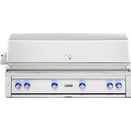 Lynx L54PSR-2-NG Built-In Natural Gas Grill with Pro Sear Burner and Rotisserie, 54-Inch by Lynx