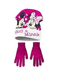 Disney Minnie Mouse Childrens Girls Mickey & Minnie Winter Hat and Gloves Set