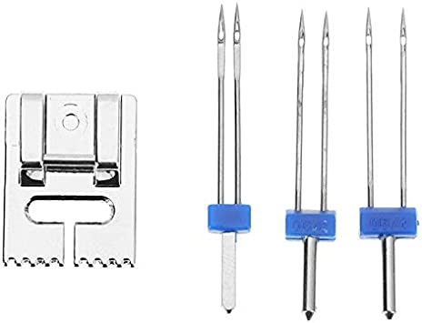 Máquina de coser de metal Prensatelas con 3 tamaños Pin doble de ...