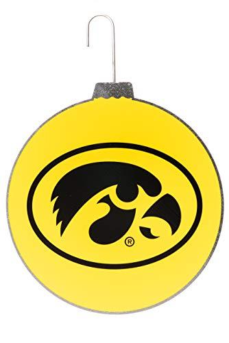 Collegiate Pulse University of Iowa Hawkeyes NCAA DISC Ornament (Iowa Christmas Ornaments University Of)