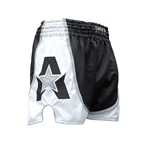 (Anthem Athletics Infinity Muay Thai Shorts - Kickboxing, Thai Boxing - Black & White - XX-Large )