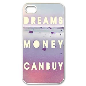 IPhone 4/4s Case, Dream Money Can Buy Luxury Case For IPhone 4/4s {White} WANGJING JINDA