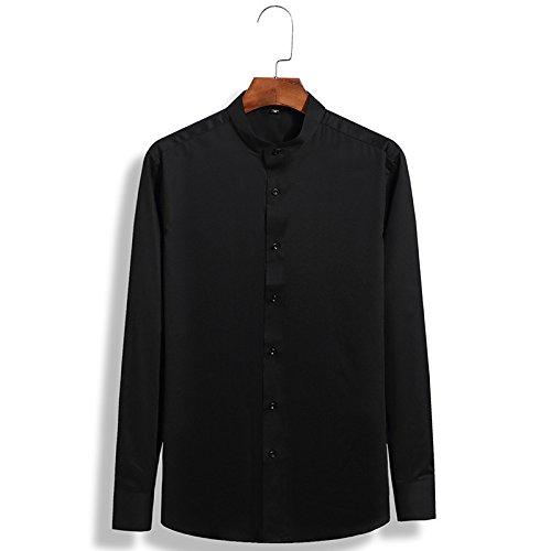 Männer Fashion Shirt mit Langen ärmeln männer Hemd Reparatur Fashion Shirt Kleidung,schwarz,XXXXL