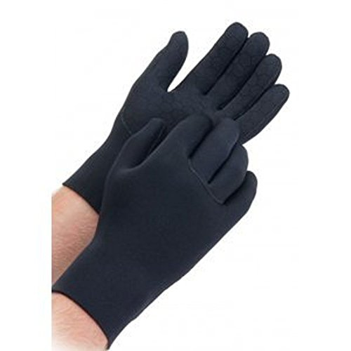 Shires Equestrian Adult Neoprene Yard Gloves - Black - Large (Super Stretch Neoprene Gloves)