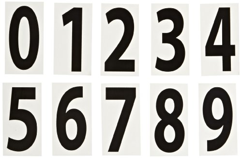 NMC NS1 18 Piece DOT Placard Number Set, 2-1/8