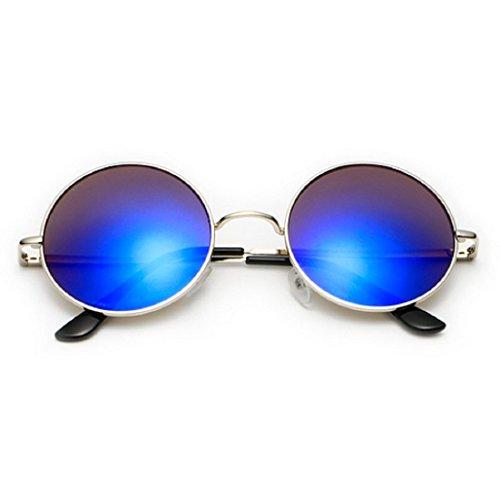 Jhon sol Uv400 Redondas Púrpura Lennon Unisex Hombres Polarizadas de Gafas Oq7E4xnwTI